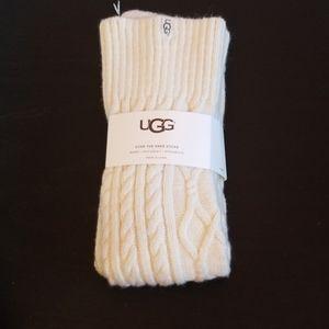 NWT UGG cream over the knee socks